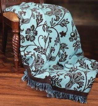 The Chocolate Blues Tapestry Throw