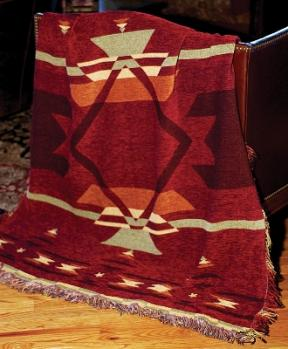 Flame Southwestern  Tapestry Throw