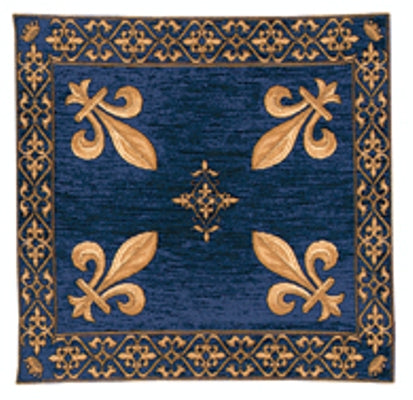 Fleur de Lys Blue European Throw