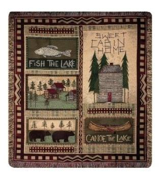 Big Bear Lodge Chenille Tapestry Throw