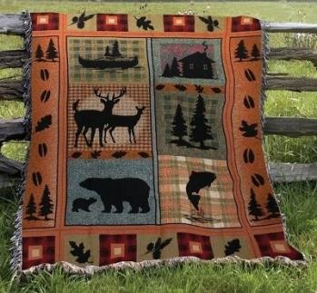 Bear Lodge II Tapestry Throw