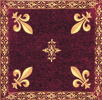 Fleur de Lys Red European Throw