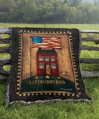 Let Freedom Ring Tapestry Throw