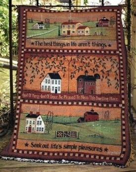 The Best Things In Life Tapestry Throw