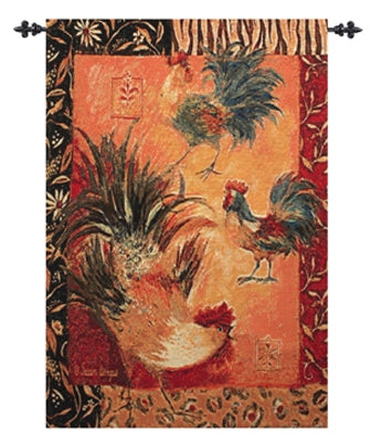 Safari Rooster Fine Art Tapestry