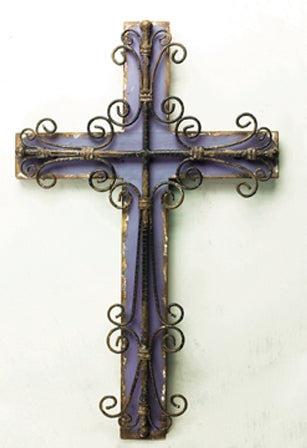 Symbols Of Faith Purple Wall Cross Wall Art