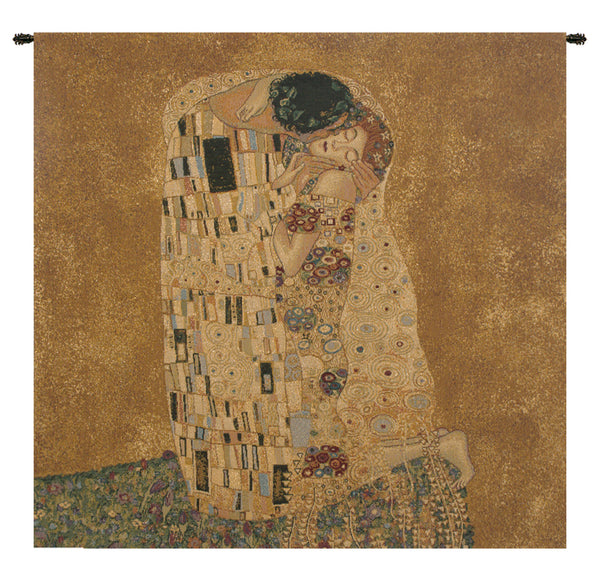 The Kiss by Klimt I Italian Tapestry Wallhanging