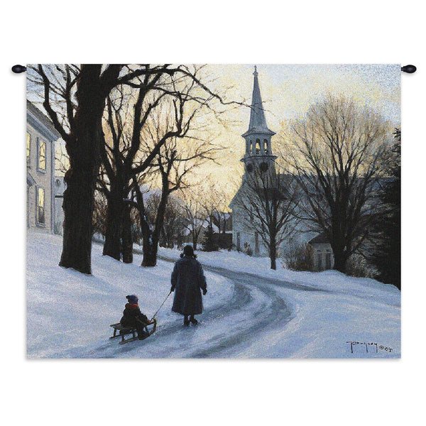 Winters Eve Tapestry Wall Hanging