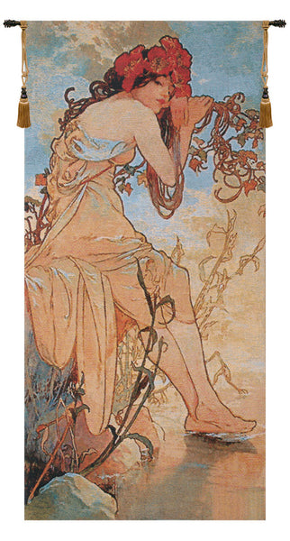 Summer Mucha Belgian Tapestry Wall Hanging