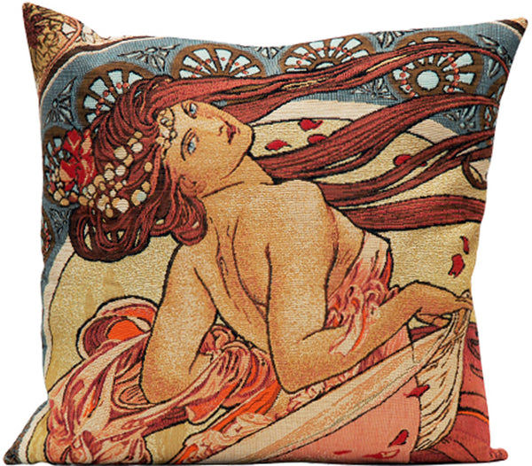 Mucha La Danse French Tapestry Cushion