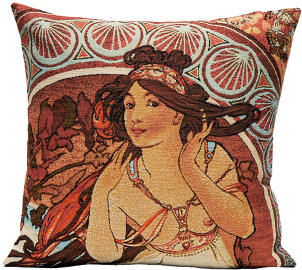 Mucha La Musique French Tapestry Cushion