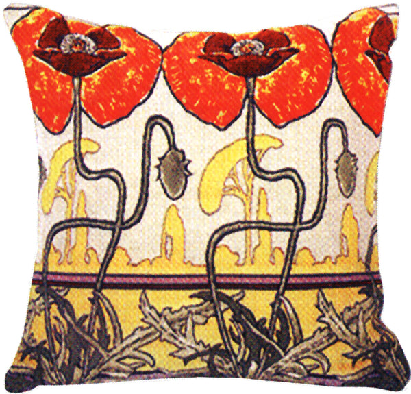 Pavot's Art Nouveau French Tapestry Cushion