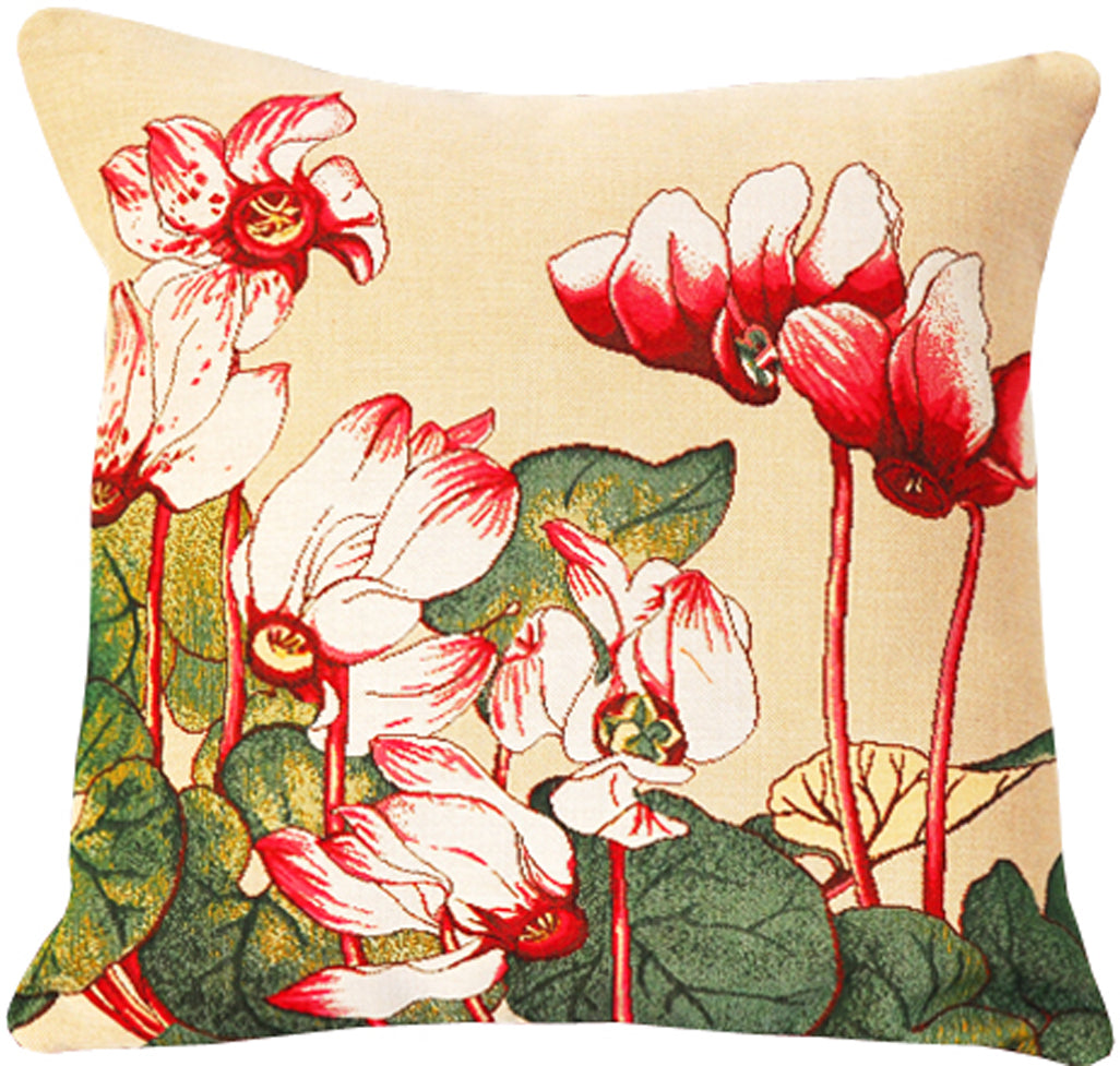 Cyclamen French Tapestry Cushion