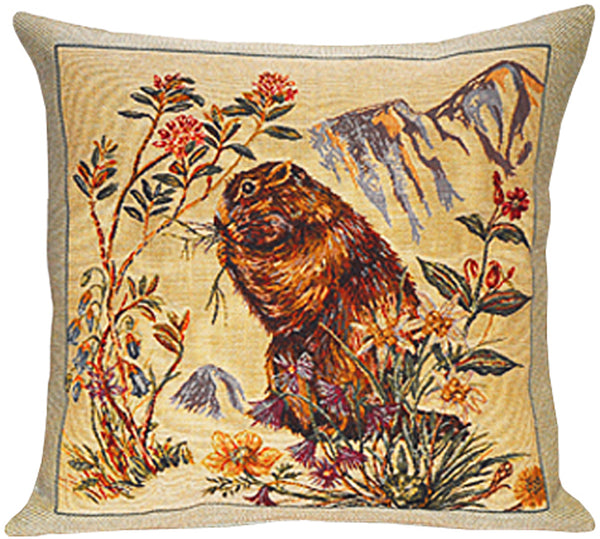 Marmottes French Tapestry Cushion