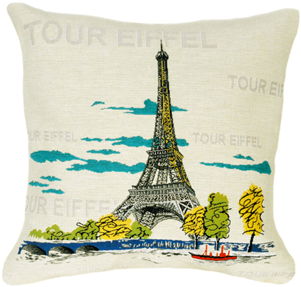 Pop Eiffel French Tapestry Cushion