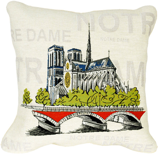 Notre Dame Pop French Tapestry Cushion