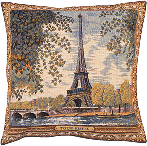Tour Eiffel French Tapestry Cushion