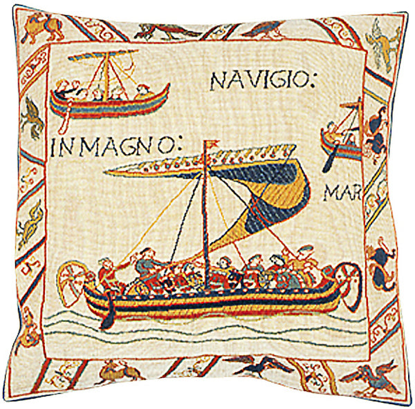 Les Vaisseaux French Tapestry Cushion