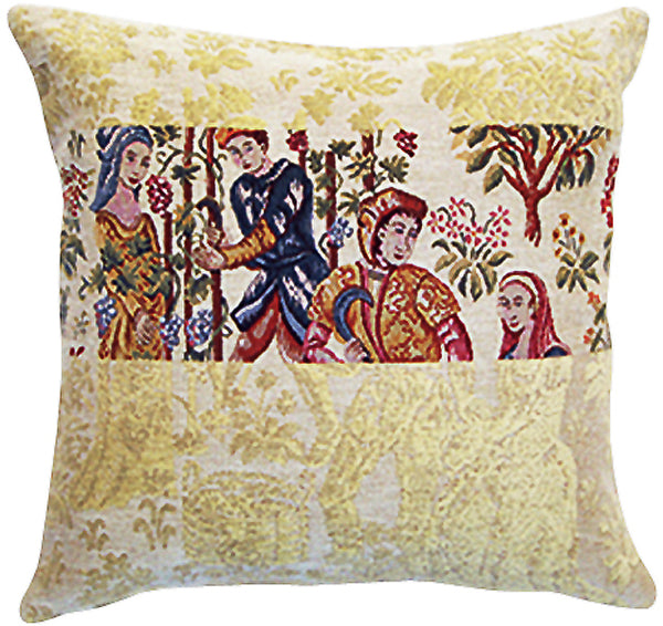 Damas Vendanges French Tapestry Cushion
