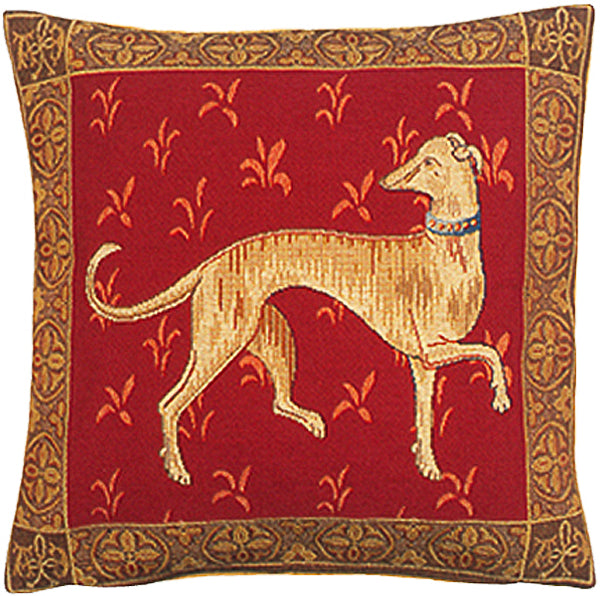 Levrier De Cluny French Tapestry Cushion