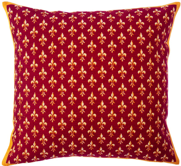 Petit Lys Rouge French Tapestry Cushion