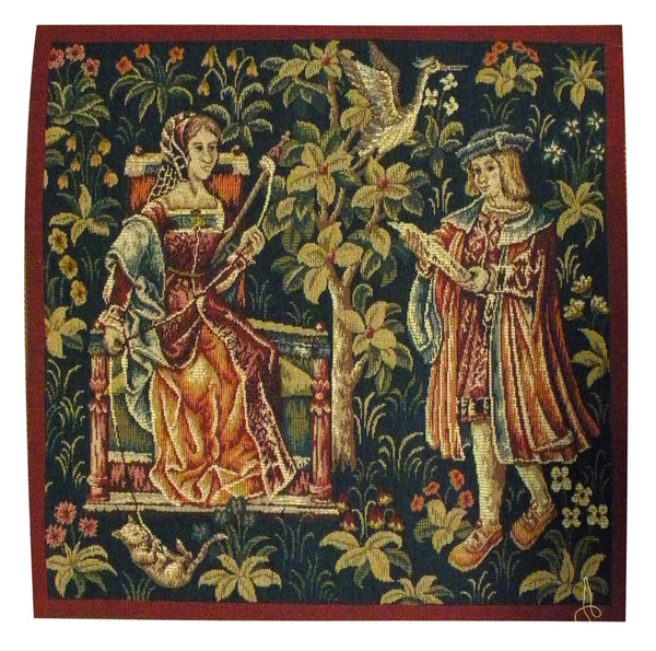 Lecture French Tapestry Cushion
