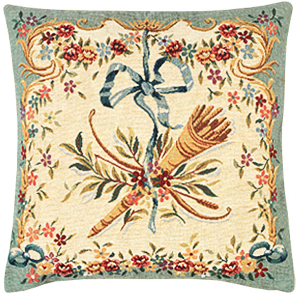 Diane Vert French Tapestry Cushion