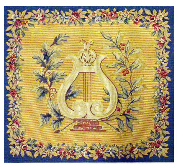 Lyre French Tapestry Cushion