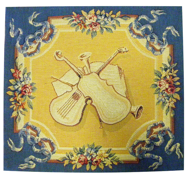 Violins French Tapestry Cushion
