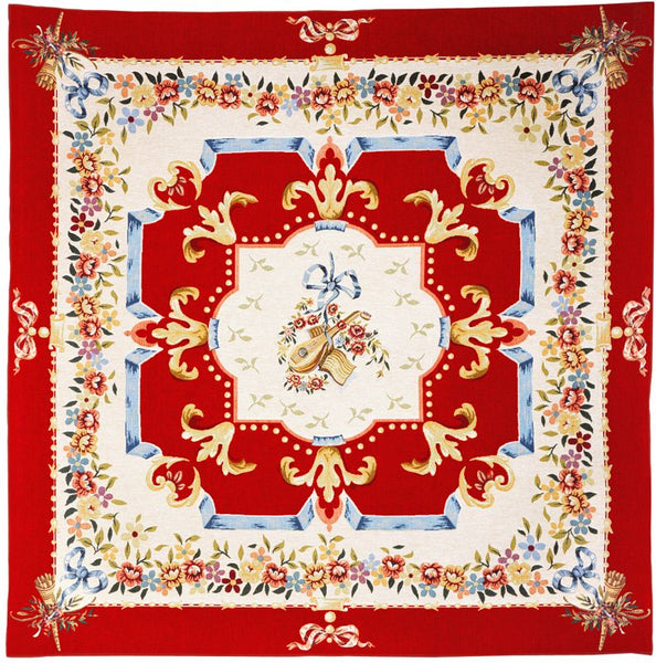 Divertissement Rouge French Tapestry Throw