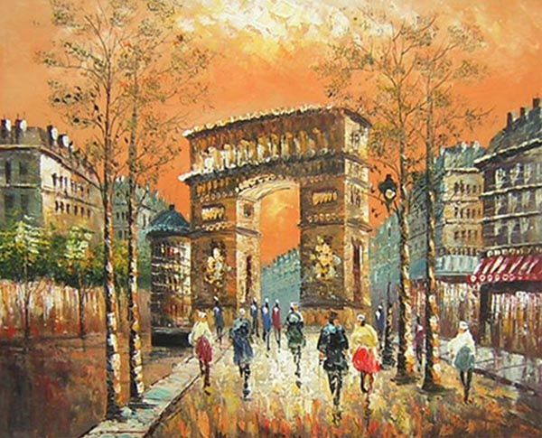 The Arc de Triomphe Canvas Wall Art