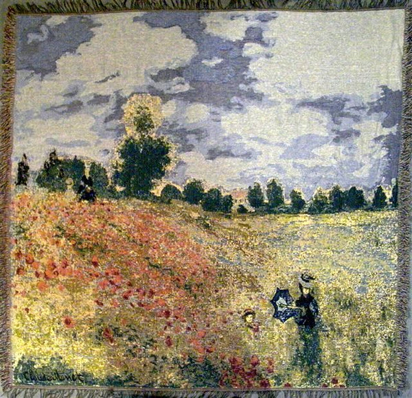 Monet's Coquelicots European Throw
