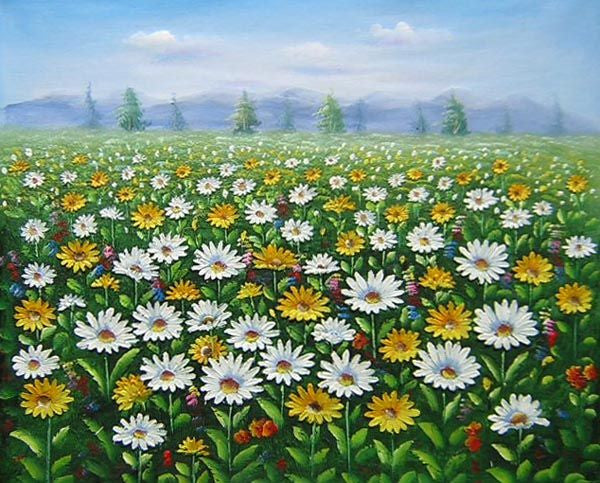 Field of Wildflowers Canvas Wall Art