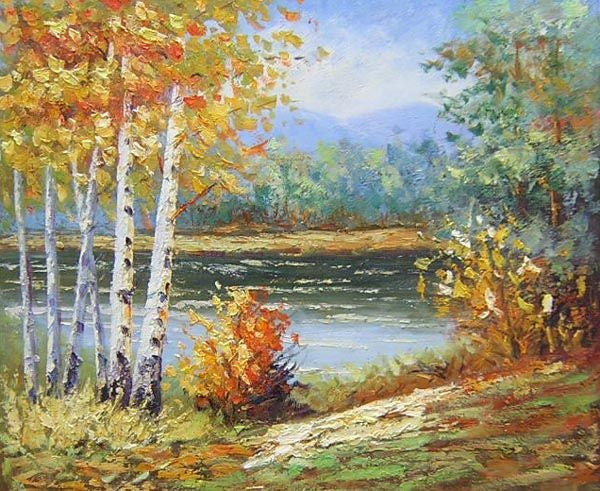 Autumn Retreat Oil Painting