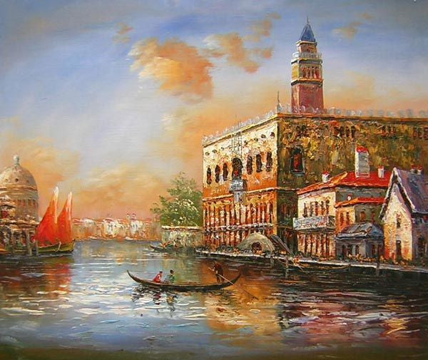 Venetian Sunset Canvas Wall Art