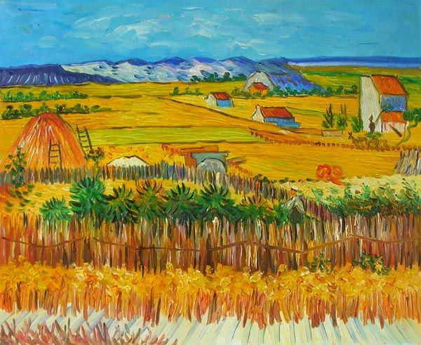 Van Gogh's The Harvest Canvas Wall Art