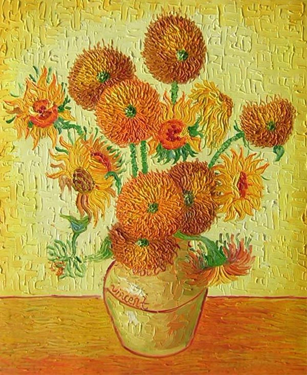 The Vase With 15 Sunflowers I Canvas Wall Art