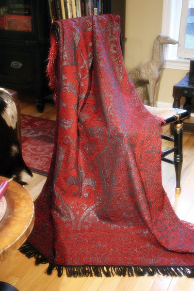 Chateau Rouge Tapestry Throw