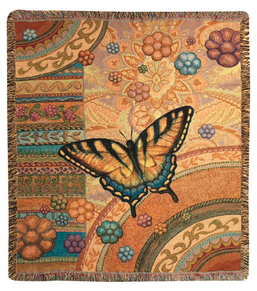 Butterfly Garden Tapestry Wall Hanging