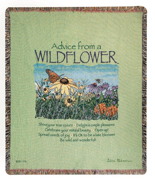 Advice From A Wildflower Tapestry Throw