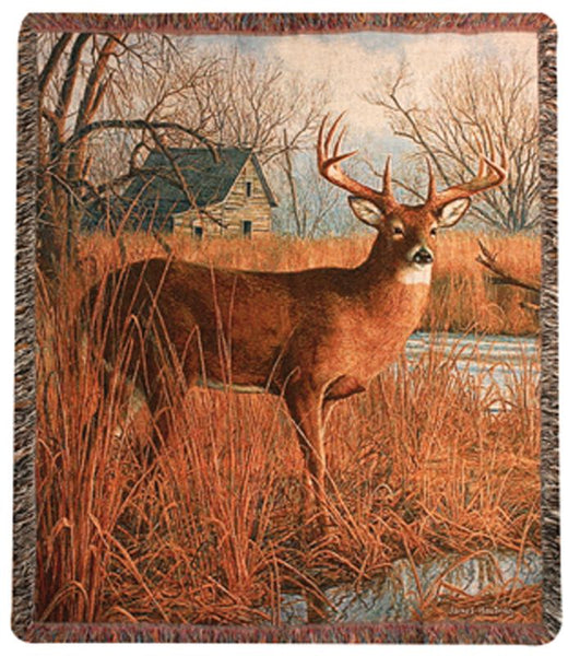 His Side of the River Tapestry Throw