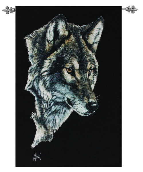 The Wolf Portrait Fine Art Tapestry