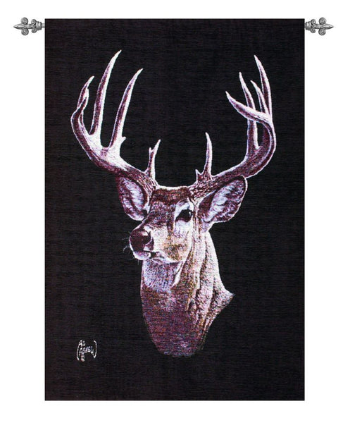 The Moonlight Buck Fine Art Tapestry