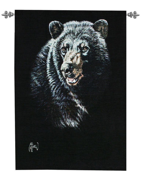 The Black Bear Tapestry Wall Hanging