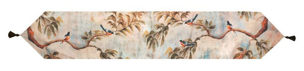 Chateau Birds Table Runner Tapestry Table Runner