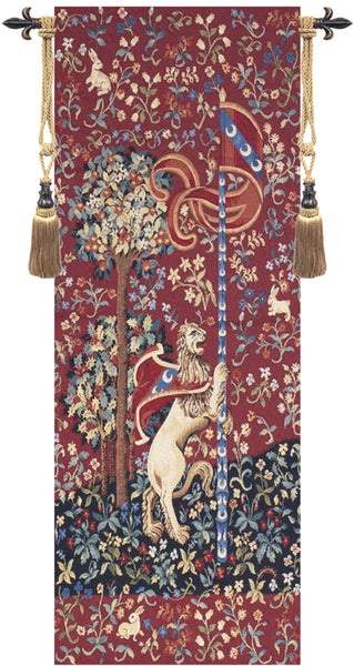 Portiere Medieval Lion  European Tapestry