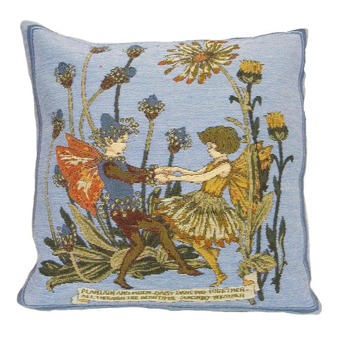 Plantain and Calendula Fairies Cicely Mary Barker  European Cushion Cover