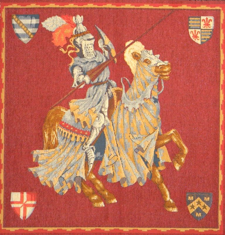 Blue Knight European Cushion Cover