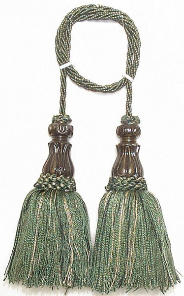 Classic - Olive Tapestry  Decorative Tassels