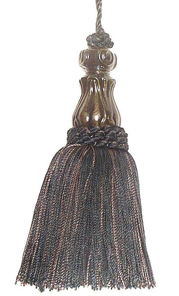 Petite Tassel - Black Tapestry  Decorative Tassels